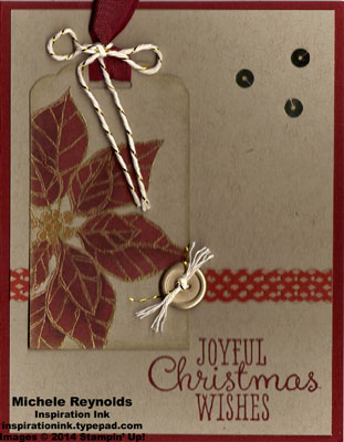 Joyful christmas poinsettia tag watermark