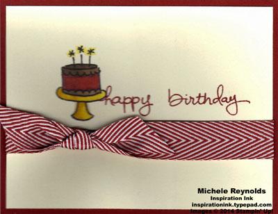 Endless birthday wishes chocolate cherry cake watermark