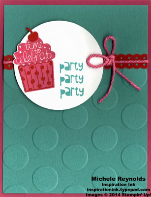 Cupcake party party circles watermark
