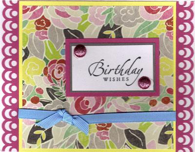 Birthday card from sue brandon