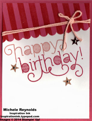 Age awareness strawberry stripes birthday watermark