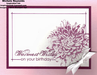 Blooming with kindness lined box flower watermark