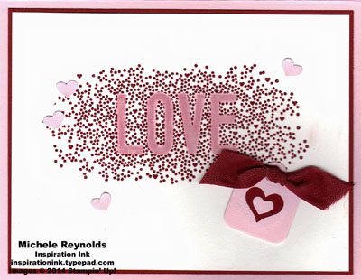Seasonally scattered love heart tag watermark