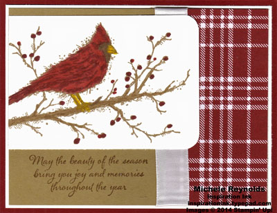 Beauty of the season cardinal plaid watermark