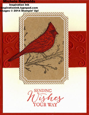 Beauty of the season framed cardinal wishes watermark