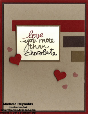 Lovely amazing you chocolate stripes watermark