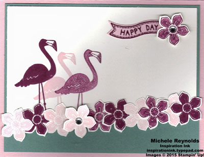 Flamingo lingo happy day trio watermark