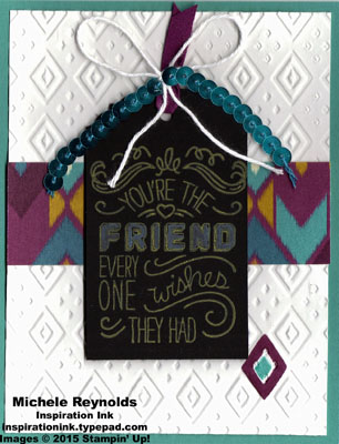 Friendly wishes boho friend tag watermark
