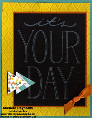 Big on you your day triangles watermark