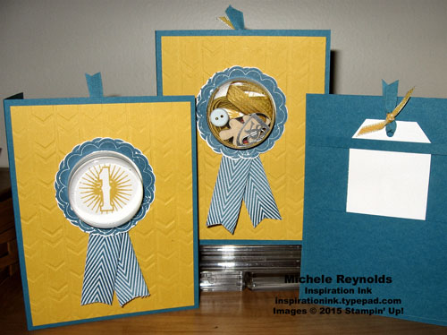 Blue ribbon treat holder cards watermark