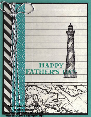 From land to sea lighthouse ledger watermark