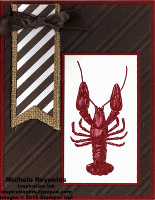 By the tide lobster stripes watermark