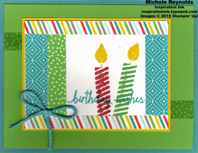 Build a birthday washi framed candles watermark