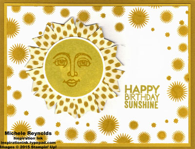 Ray of sunshine framed birthday sun watermark