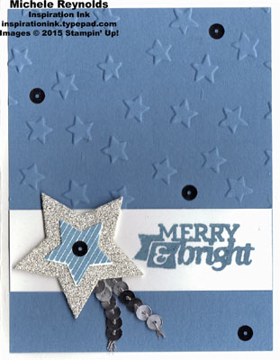 Christmas bliss sequined star watermark