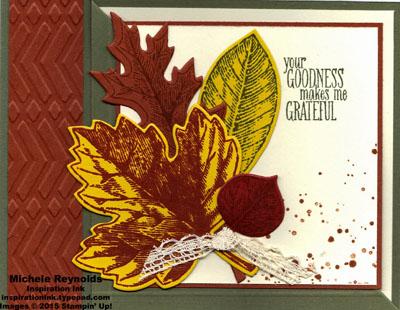 Vintage leaves corner fold gratitude watermark