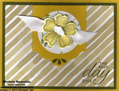 Birthday blossoms ribbon center flower watermark