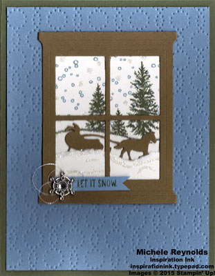 Happy scenes let it snow window watermark