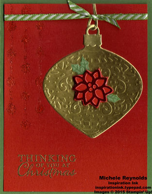 Embellished ornaments reverse embossed ornament watermark