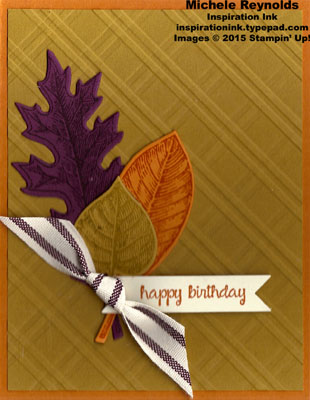 Vintage leaves fall leaf plaid watermark