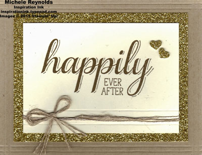 Big news happily ever after gold glimmer watermark