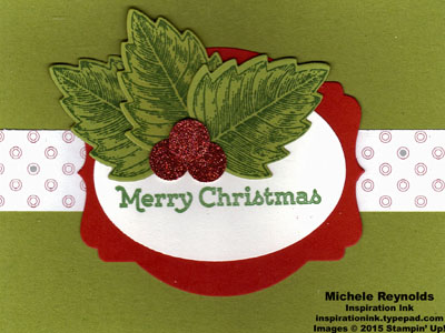 Vintage leaves holly christmas watermark