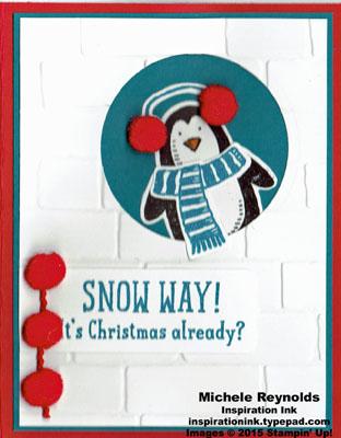 Snow place peeking penquin watermark