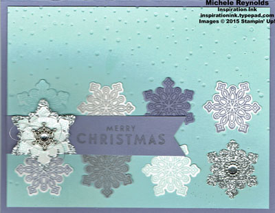 Flurry of wishes snowflake lines watermark