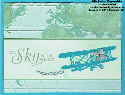 Sky is the limit sponged world watermark