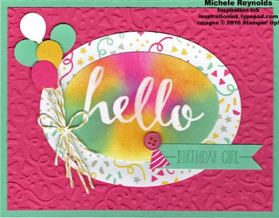 Hello birthday confetti party watermark