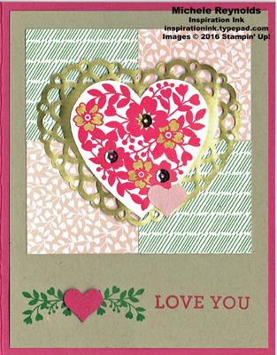 Bloomin' love doily heart watermark