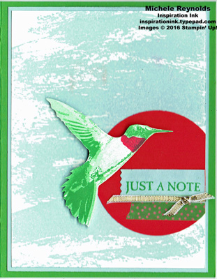 Picture perfect hummingbird note circle watermark
