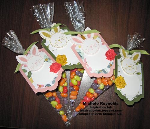Friends & flowers carrot bunny treats