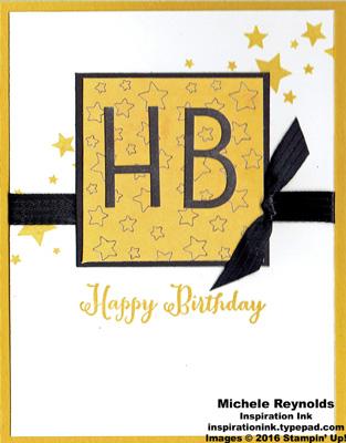Perpetual birthday calendar HB stars watermark
