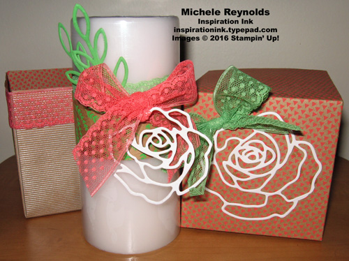Rose garden decorated candle and box