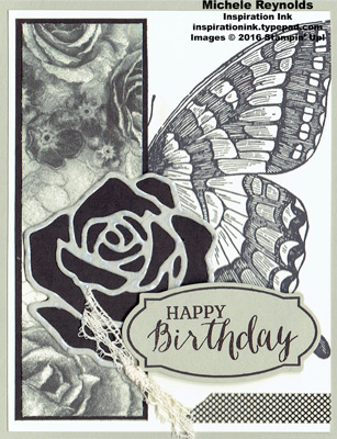 Swallowtail rose butterfly birthday watermark