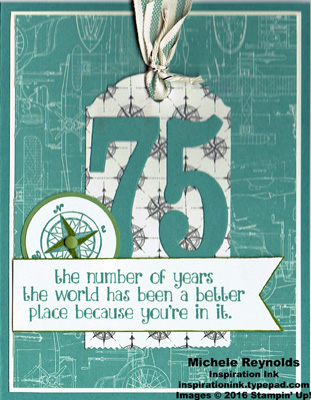 Number of years 75 years compass watermark