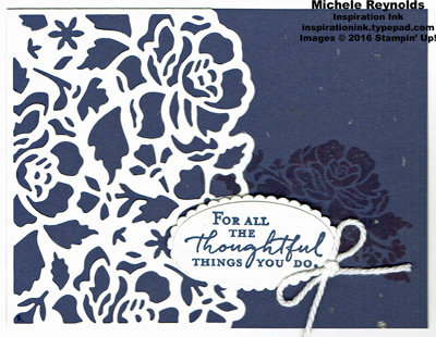 Floral phrases navy things watermark