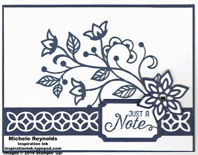 Floroushing phrases navy note watermark