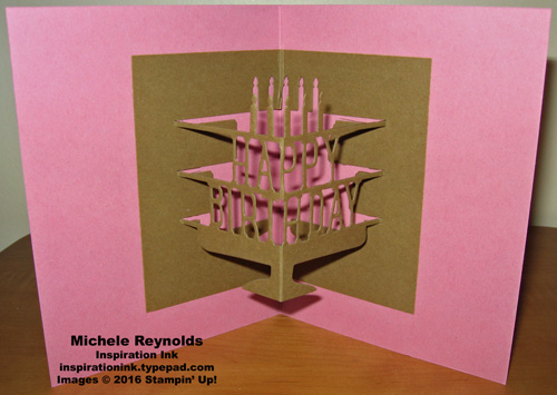 Party pop up sugarplum cupcake card