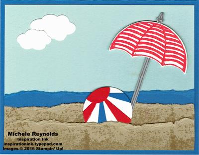 Weather together beach scene watermark