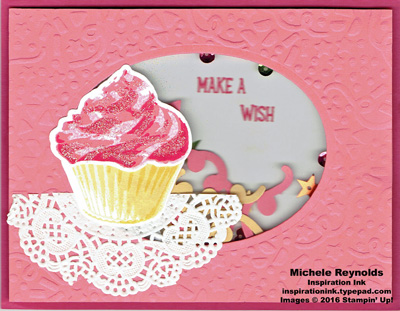 Sweet cupcake make a wish shaker watermark