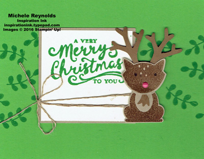 Foxy friends christmas reindeer watermark