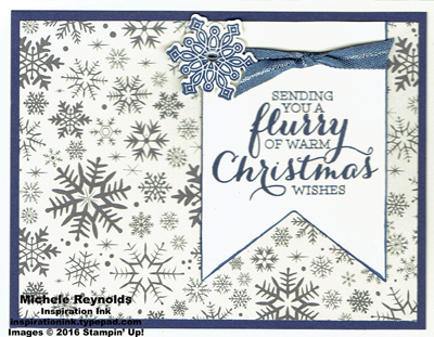 Flurry of wishes this christmas snowflakes watermark