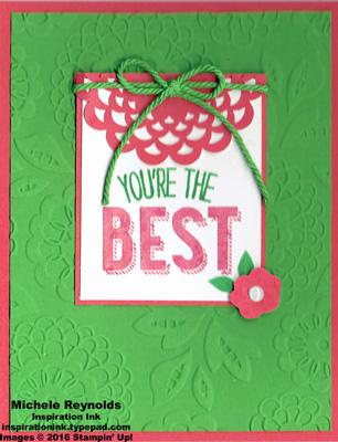 Friendly wishes best flower watermark