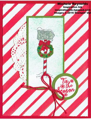 Christmas magic candy cane pole watermark