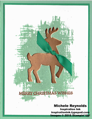 Santa's sleigh simple copper reindeer watermark