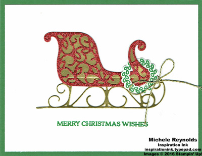 Santa's sleigh simple sparkle sleigh watermark
