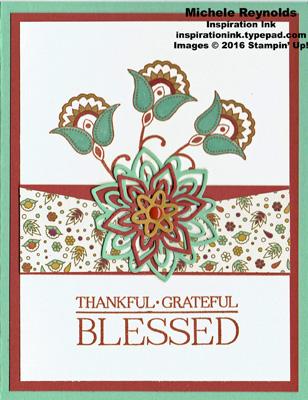 Paisleys & posies blessed flowers watermark
