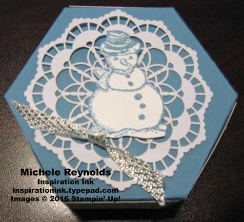 Christmas magic snowman box top